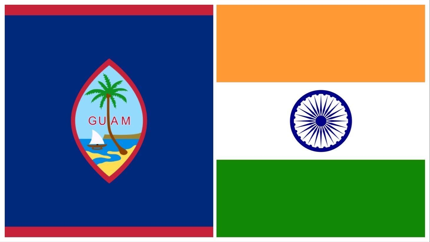 Flags of Guam and India